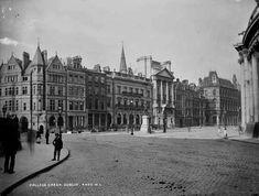 College Green, Dublin, looking south west, c. Dublin Map, Dublin City, Dublin Ireland, Old Pictures, Old Photos, Vintage Photos, Irish Independence, Lawrence Photos, Dublin Street