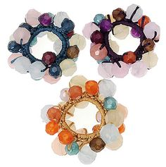 beaded ponytail holders