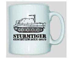 Tasse Sturmtiger 606 Geschützwagen / mehr Infos auf: www.Guntia-Militaria-Shop.de