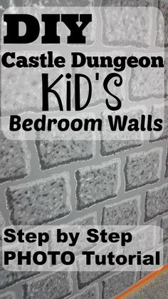 The BEST photo tutorial I've seen yet on an easy DIY Castle Dungeon Kid's Bedroom wall to paint. My boys will LOVE this - perfect for Minecraft bedrooms too. Anyone can easily paint these awesome kid's bedrooms!