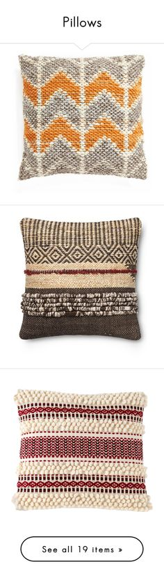 """Pillows"" by camilika ❤ liked on Polyvore featuring pillows, home, home decor, throw pillows, orange multi, rustic home decor, stripe throw pillows, rustic throw pillows, zig zag throw pillows and chevron stripe throw pillows"