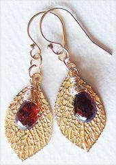 Handmade garnet earrings  handmade-beaded-gemstone-jewelry.com