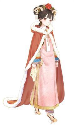 """暖暖环游世界 动漫 人设 百美图系列之""""珍妃"""" 套装 服装 造型 高清大图"""