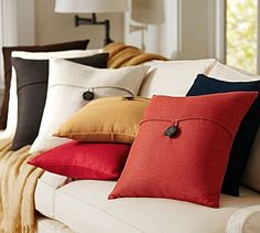 Find throw and accent pillows from Pottery Barn to easily update your space. Shop our pillow collection to find decorative pillows in classic styles, prints and colors. Brown Pillows, Sofa Throw Pillows, Linen Pillows, Linen Bedding, Decorative Pillows, Bed Linens, Accent Pillows, Cushions, Bedding Sets Online