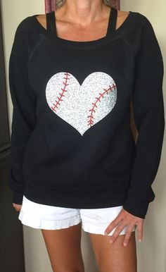 Baseball Alley Designs - Baseball Heart Off Shoulder Fleece, $32.00 (http://baseballalley.net/baseball-heart-off-shoulder-fleece/)