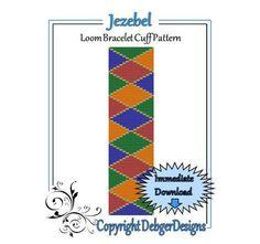 Bead Pattern Loom(Bracelet Cuff)-Jezebel