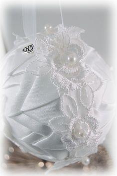 custom wedding ornament handmade with dress material