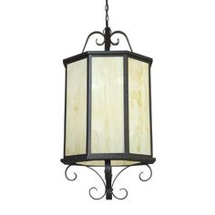 2nd Ave Design Musetta 8 Light Outdoor Pendant Finish: Golden Verde, Shade Type: Silver Mica