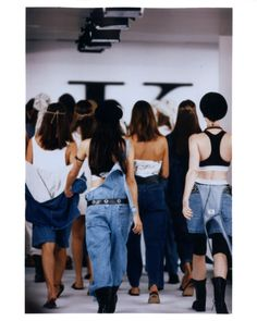 Calvin Klein 1993 Fashion Show.