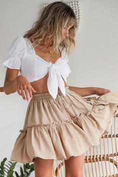 Cute Skirt Outfits, Cute Skirts, Cute Casual Outfits, Stylish Outfits, Summer Skirt Outfits, Floral Skirt Outfits, Teen Skirts, Outfit Summer, Dress Summer