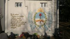 """Alta en el Cielo"" mural realizado en la plaza Villa Real (Dñia de la Bandera 2014) Plaza, Flags, Sky, Hearts, Hipster Stuff"