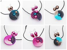 polymer clay jewerly by Jana Svobodova , inspiration Eva Haskova