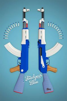 Candy-Colored Killing Machines -  Twelve Four Haus Paints AK47 Automatic Rifles in Pastels. What? Sthu!