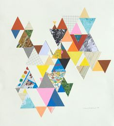 triangles. Pretty paper unto magnetic paper and cut into triangles for a playset for the girls