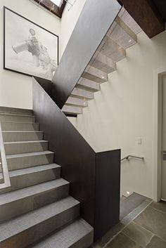 Escalera en hierro corten