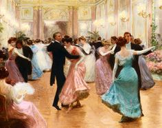 Elegant Soiree by Jean Beraud. Saw one of his paintings in the January issue of Vogue and now I'm obsessed.