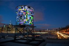 "Tom Fruin's ""Watertower"" near New York's Brooklyn Bridge (=)"