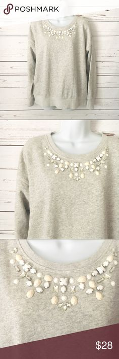 Ann Taylor Jeweled Sweater NWOT. All jewels and embellishments intact, no flaws/ true to size. Ann Taylor Tops Sweatshirts & Hoodies