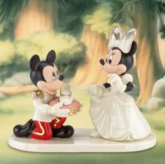Disney's Minnie's Prince Charming Wedding Cake Topper Figurine - Lenox
