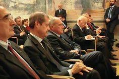 Il Consigliere Diplomatico Raimondo VILLANO alla Conferenza del Presidente Emerito della Repubblica Sen. Giorgio NAPOLITANO sul contrasto all'aumento delle diseguaglianze. (Roma, Palazzo Giustiniani, Senato della Repubblica,  Sala Zuccari, 29 ottobre 2015);
