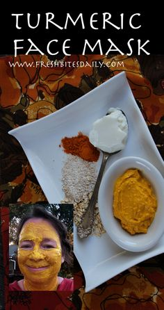 Turmeric Facial Mask for Skin Toning and Reducing Inflammation
