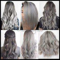 Gray Wig Black Girl Silver Grey Human Hair Wigs Best Supplement For Grey Hair Ash Grey Hair, Grey Ombre Hair, Silver Grey Hair, Silver Ash, White Hair, Silver Blonde, Lilac Hair, Pastel Hair, Silver Color