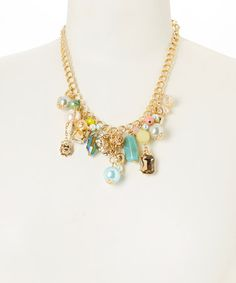 Another great find on #zulily! Blue & Gold Charm Necklace by J & H Creations #zulilyfinds
