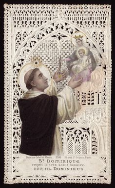 St. Dominic receiving the Holy Rosary