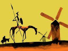 Carole King, Auguste Rodin, Claude Monet, Banksy, Alice Ruiz, Man Of La Mancha, Dom Quixote, Impossible Dream, Illustration
