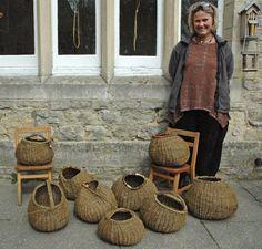 Workshop tutor, Ane Lyngsgaard with the organic pod forms [Photo: J Sweet]