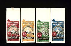 Douwe Egberts koffieverpakkingen uit 1930