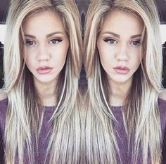 long layered hair with wispy side bangs - Google Search