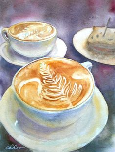 Coffee Art  Watercolor
