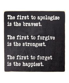 This 'The One to Apologize First...' Wall Sign by Sara's Signs is perfect! #zulilyfinds