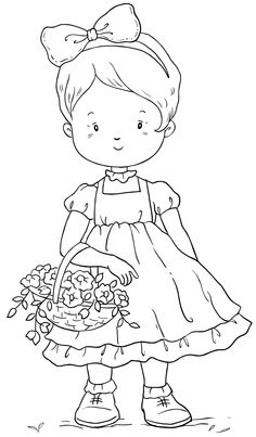 Flower Girl Coloring Pages Elegant 390 Best Images About Riscos Para Pintura On . Coloring Pages For Girls, Flower Coloring Pages, Coloring Book Pages, Coloring For Kids, Coloring Sheets, Embroidery Patterns, Hand Embroidery, Girls With Flowers, Scrappy Quilts