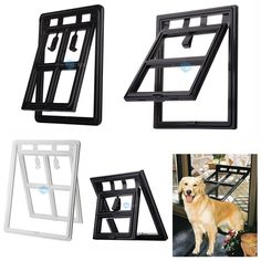 No Cutting Into Your House For The Doggie Door! This LARSON Storm Door  Comes With A Pet Door Already Built In. #ItsADogsLife #WelcomeHome #MyLarsu2026