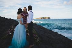 A moody, edgy, and elegant indie elopement wedding inspiration shoot in NSW, Australia. Elopement Wedding, Elope Wedding, Byron Bay, Blue Fashion, Love Photography, Real Weddings, Indie, Tulle, Wedding Inspiration