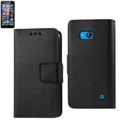 Reiko Wallet Case 3 In 1 For Nokia Lumia 640 Lte/ Microsoft Lumia 640 Black With Interior Leather-Like & Polymer Cover