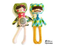 Applique Face Doll Sewing Patterns  PDF - boy & girl. $10.00, via Etsy.
