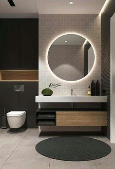52 Examples Of Minimal Interior Design for Bathroom Decor - Bathroom interior - Bathroom Mirror Design, Modern Bathroom Design, Bathroom Interior Design, Bathroom Lighting, Bathroom Designs, Bathroom Mirrors, Bath Design, Bathroom Small, Master Bathroom