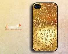 raindrop printing iphone 5 caseiphone 5s caseiphone by janicejing, $6.99