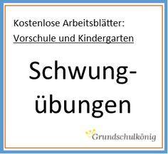 Für die Vorschule und den Kindergarten: Kostenlose Arbeitsblätter mit Schwungübungen - zum Download als PDF