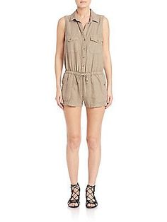 Bella Dahl Utility Sjungle mosshort Jumpsuit