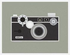 vintage cameras illustration from Etsy