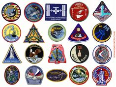 space mission patches | ... astronaut spacesuits, ideal research for space projects or homework