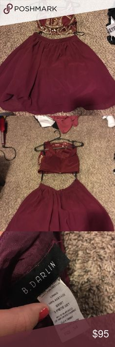 💥HOMECOMING DRESS💥 My fav. Homecoming dress by far. Wore one time, so it's like brand new. It's a size 3/4 but I️ am a size 2 and it fit well. Feel free to ask any questions!! 🙂 B Darlin Dresses