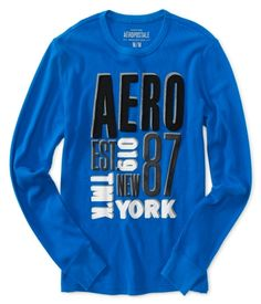 Aero NYC Crew Thermal Sweater 14.75 AT AREPOSTALE  hE NEEDS A FEW LONG SLEEVE PULLOVERS  SIZE SMALL, I BELIEVE AT THIS STORE.