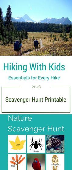 Hiking with Kids Essentials + Scavenger Hunt