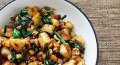 Warm Potato Salad with Chickpeas & Spinach | Fat-Free Vegan Kitchen | #vegan #recipe