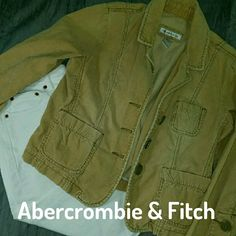 EUC Abercrombie Corduroy jacket This jacket is so versatile! It is light so it can be worn all summer on chilly evenings. Abercrombie & Fitch Jackets & Coats